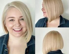20 Стильных и дерзких вариантов стрижки боб-каре для круглого лица фото