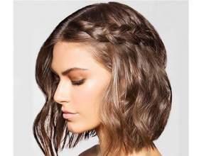 8 Идеальных причёсок с плетением для коротких волос фото