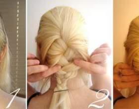 Быстрая прическа для длинных волос фото