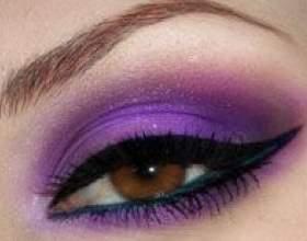 Фиолетовый макияж для карих глаз: фото фото