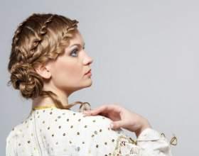 Греческие и французские косички на средние волосы фото