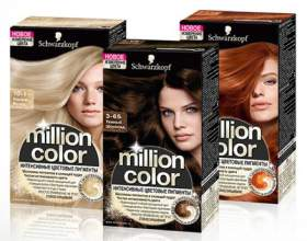 Инновация! Крем-краска на основе пудры million color от schwarzkopf. Палитра фото