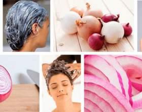Эффект от луковых масок против выпадения волос фото