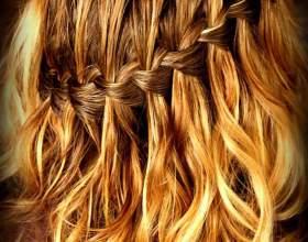 Как сделать косу-водопад фото