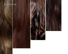 Каштановые оттенки волос фото