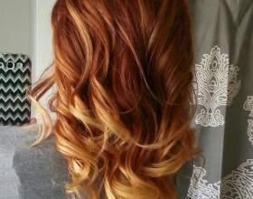 Колорирование рыжих волос фото
