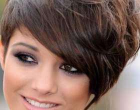 Короткие стрижки на круглое лицо фото