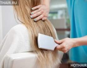 Коррекция наращенных волос фото