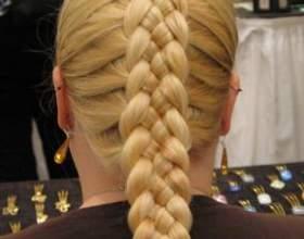 Коса из 5 прядей схема. Простой метод плетения фото