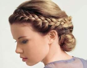 Коса вокруг головы – колоритная прическа фото