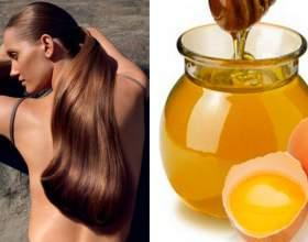 Маска с медом и яйцом для роста волос фото