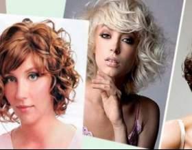 Модные стрижки на вьющиеся волосы фото