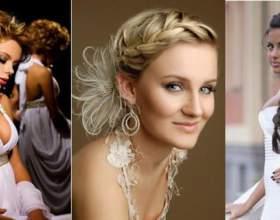 Модные свадебные прически с косами фото