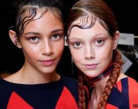 Модные тенденции красоты 2015: причёски с эффектом влажных волос фото