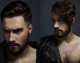 Мужские прически и стрижки с выбритыми висками фото