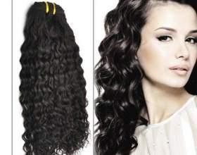 Наращивание прядей на вьющиеся волосы фото