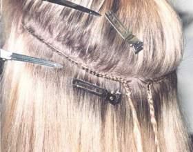 Наращивание волос трессами фото