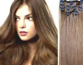 Натуральные волосы на заколках фото