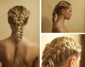 Новомодная 4-х прядная коса и варианты ее плетения фото