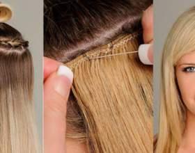 Описание, характеристика и стоимость наращивания волос на трессах фото