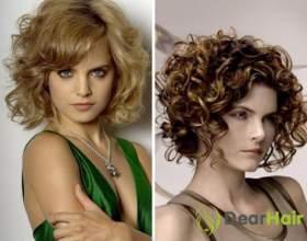 Особенности стрижек кудрявых волос до плеч фото
