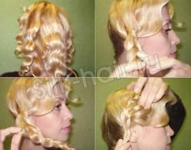 Прическа на вечер - цветок из волос фото