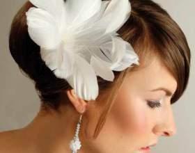 Прически для невест с короткими волосами фото