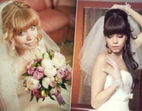 Прически на свадьбу с челкой фото