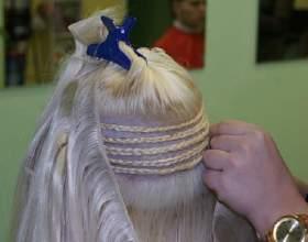 Процедура наращивания волос на косички фото
