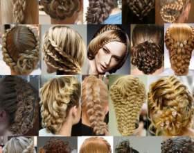 Простор для фантазии в прическах с косами на длинные волосы фото