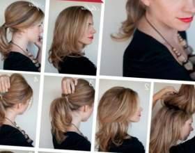 Схемы причесок на средние волосы фото