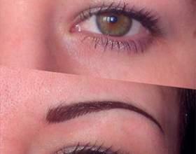 Сколько держится перманентный макияж бровей? Метод волосковой техники фото