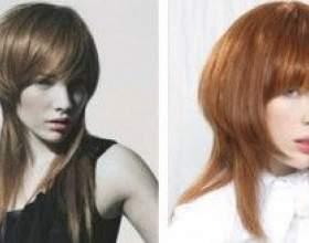 Стильная стрижка на волосы средней длины фото