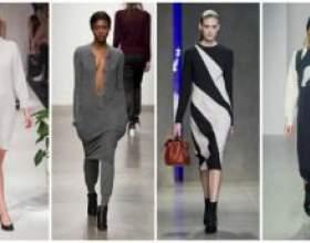 Стильный трикотаж осени – 5 модных тенденций трикотажных платьев на осень-зиму 2014-2015 фото