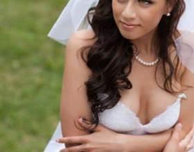 Свадебная прическа с фатой и челкой фото