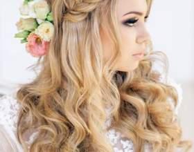 Свадебные прически для волос средней длины 2017 фото