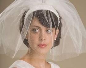 Свадебные прически на короткие волосы с фатой фото
