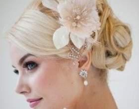 Свадебные прически на средний волос фото