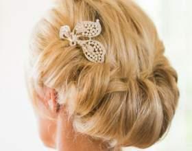 Свадебные прически на волосы средней длины с фатой фото