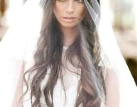 Свадебные прически распущенные волосы с фатой фото