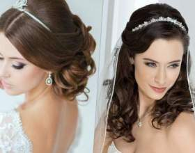 Свадебные прически собранные волосы с фатой фото