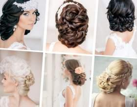 Свадебные укладки на короткие волосы фото