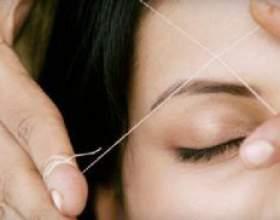 Тридинг или эпиляция бровей нитью: подготовка, правила выполнения и важные мелочи фото