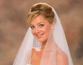 Варианты свадебных причесок с фатой и челкой фото