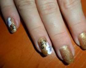 Золотой шеллак-маникюр своими руками -пошаговая инструкция с фото фото